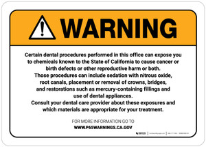 Warning: Prop 65 - Dental Care Exposure