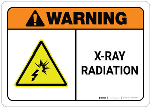 Warning: X-Ray Radiation ANSI Shock Icon