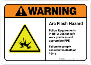 Warning: Arc Flash Hazard - Follow NFPA 70E Requirements - Failure Can Result in Death or Injury