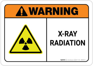 Warning: X-Ray Radiation ANSI Landscape