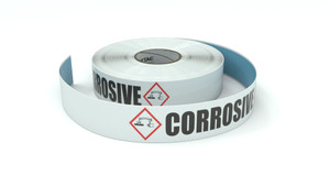 GHS: Corrosive Icon Horizontal - Inline Printed Floor Marking Tape
