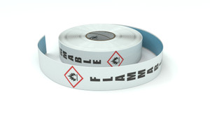 GHS: Flammable Icon Vertical - Inline Printed Floor Marking Tape