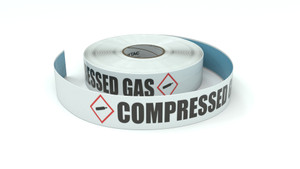 GHS: Compressed Gas - Horizontal - Inline Printed Floor Marking Tape