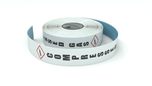 GHS: Compressed Gas Icon Vertical - Inline Printed Floor Marking Tape