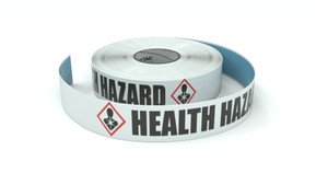 GHS: Health Hazard Icon Horizontal - Inline Printed Floor Marking Tape