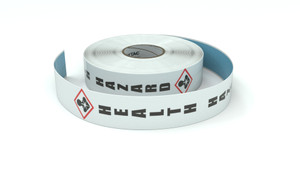 GHS: Health Hazard Icon Vertical - Inline Printed Floor Marking Tape