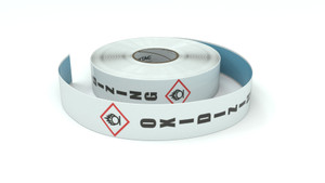 GHS: Oxidizing Icon Vertical - Inline Printed Floor Marking Tape