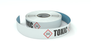GHS: Toxic Icon Horizontal - Inline Printed Floor Marking Tape