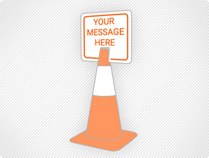 Create Custom Clip-On Cone Sign