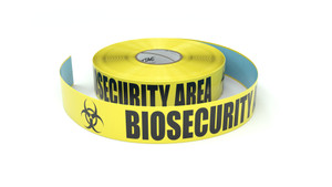 Biosecurity Area With 2 Bio Symbols - Inline Printed Floor Marking Tape