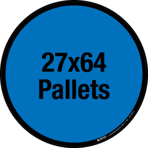 27x64 Pallets Floor Sign