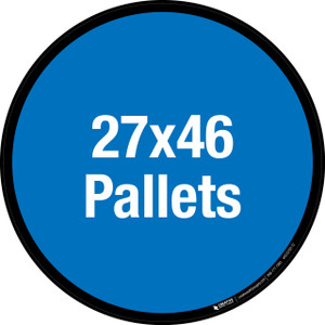 27x46 Pallets Floor Sign