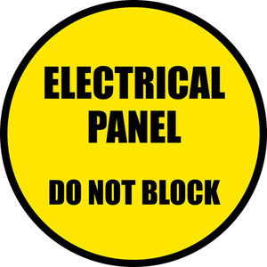 Electrical Panel - Do Not Block (Circle) - Floor Sign