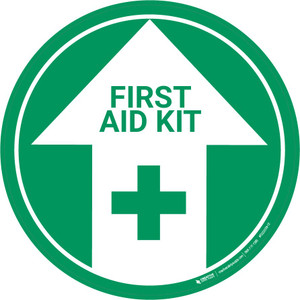 First Aid Kit (Arrow Up) - Floor Sign