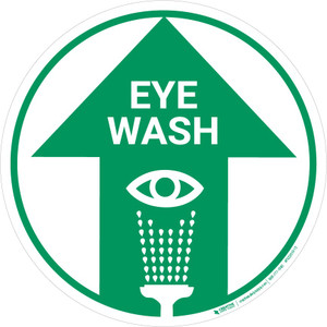 Eye Wash (Arrow Up) - Floor Sign