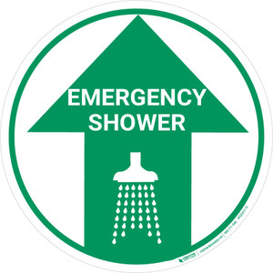 Emergency Shower (Arrow Up) - Floor Sign