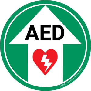 AED (Arrow Up) - Floor Sign