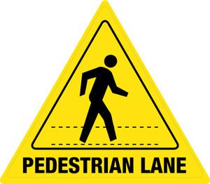 Pedestrian Lane - Floor Sign