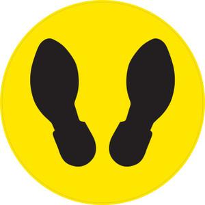 Foot Prints (Circle) - Floor Sign