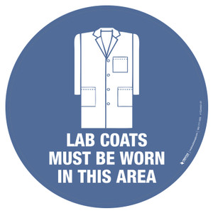 Lab Coats Must be Worn in This Area - Floor Sign