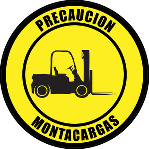 Pcaution: Forklift (Spanish) - Floor Sign