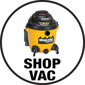 Shop Vac (White Circle) - Floor Sign