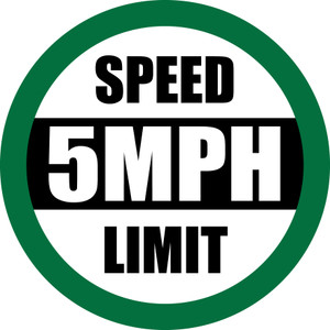 Speed Limit: 5 mph (Green) - Floor Sign