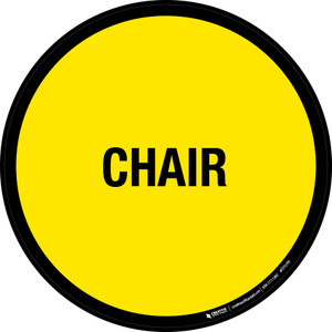 Chair Floor Sign