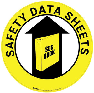 Safety Data Sheets (Yellow) - Floor Sign