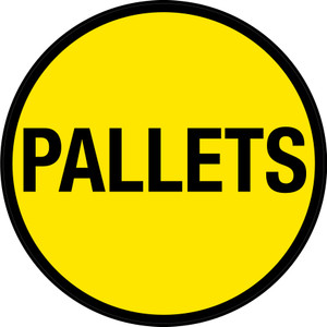 Pallets (Yellow Circle) - Floor Sign