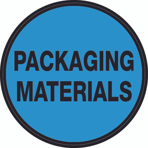 Packaging Materials (Blue Circle) - Floor Sign