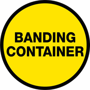 Bonding Container (Yellow Circle) - Floor Sign