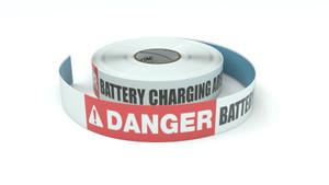 Danger: Battery Charging Area - Inline Printed Floor Marking Tape