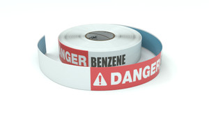 Danger: Benzene - Inline Printed Floor Marking Tape