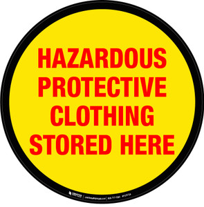 Hazardous Protective Clothing Stored Here Floor Sign