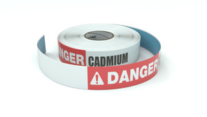 Danger: Cadmium - Inline Printed Floor Marking Tape