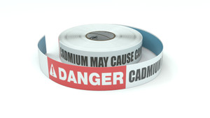 Danger: Cadmium May Cause Cancer - Inline Printed Floor Marking Tape