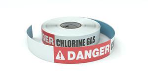 Danger: Chlorine Gas - Inline Printed Floor Marking Tape