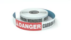 Danger: Carbon Monoxide - Wear PPE - Inline Printed Floor Marking Tape