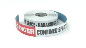 Danger: Confined Space - Harardous Atmosphere - Inline Printed Floor Marking Tape