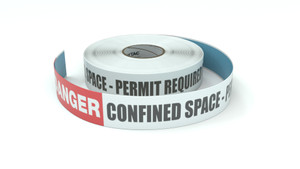 Danger: Confined Space - Permit Required Do Not Enter - Inline Printed Floor Marking Tape