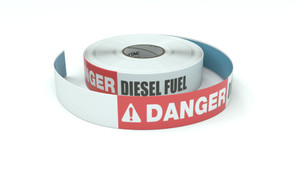 Danger: Diesel Fuel - Inline Printed Floor Marking Tape