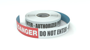 Danger: Do Not Enter - Authorized Personnel Only - Inline Printed Floor Marking Tape