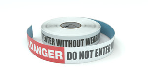 Danger: Do Not Enter Without Wearing Glasses - Inline Printed Floor Marking Tape