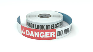 Danger: Do Not Look At Electric Arc - Inline Printed Floor Marking Tape