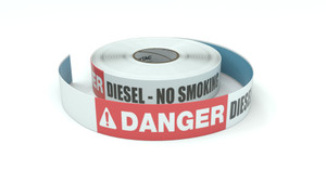 Danger: Diesel - No Smoking - Inline Printed Floor Marking Tape