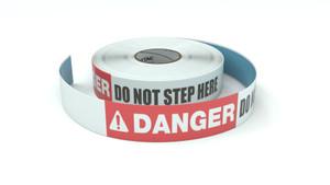 Danger: Do Not Step Here - Inline Printed Floor Marking Tape