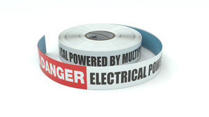 Danger: Electrical Powered By Multiple Sources - Inline Printed Floor Marking Tape