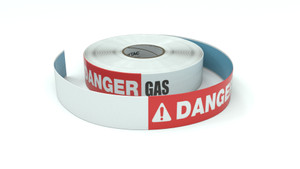 Danger: Gas - Inline Printed Floor Marking Tape