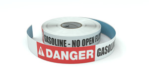 Danger: Gasoline - No Open Flame - Inline Printed Floor Marking Tape